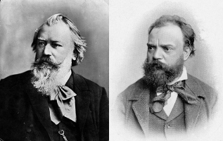 Classical Music Composer Friends Brahms and Dvorak