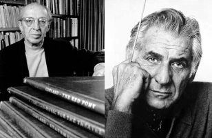 Classical Music Composer Friends Copland and Bernstein