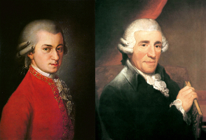 Classical Music Composer Friends Haydn and Mozart