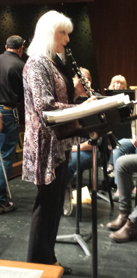Mary Nichols Rehearsing with the Parker Symphony