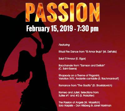 Passion - Parker Symphony Concert - February 2019