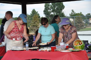 Parker Symphony Picnic 2016 Serving Food