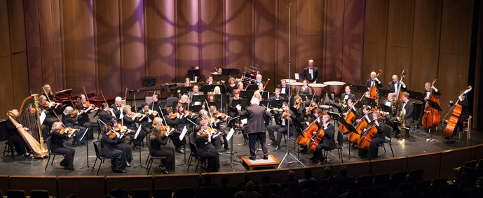 Wide shot of Parker Symphony Orchestra