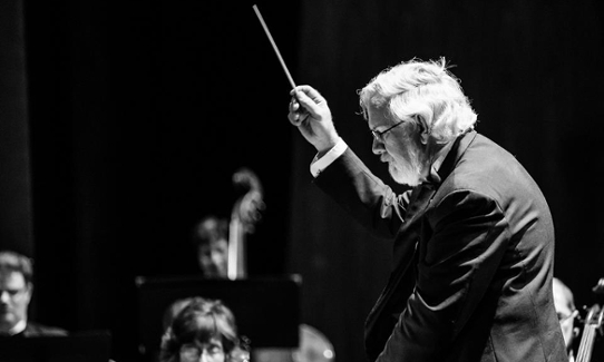 Rene Conducting the Parker Symphony Orchestra