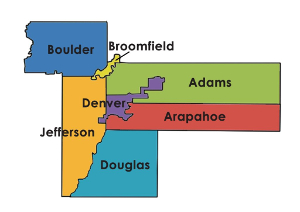 Counties served by SCFD