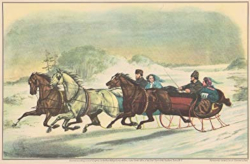 The Sleigh Race by Currier and Ives