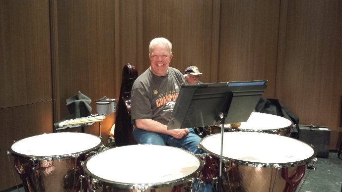 Teag with the Parker Symphony Orchestra Timpani
