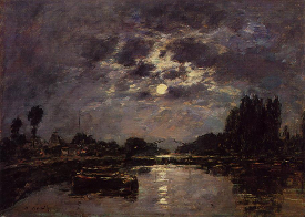 The Effect of the Moonlight - Eugene Boudin
