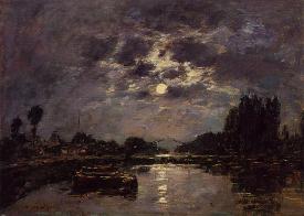 The Effect of the Moonlight - Eugene Boudin