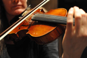Violin Closeup Shot From The Parker Symphony Orchestra